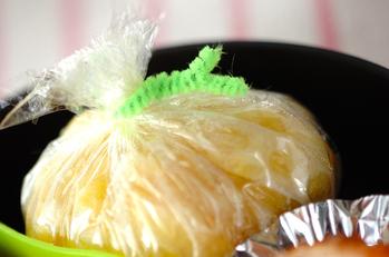 サツマイモとリンゴジャムの茶巾