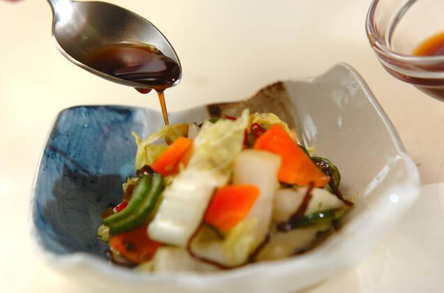 白菜の浅漬けの作り方の手順5