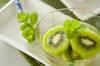 キウイのミントティー漬の作り方の手順