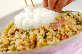 菊菜のおろしのせチャーハンの作り方3