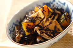カボチャとヒジキのレンジ煮