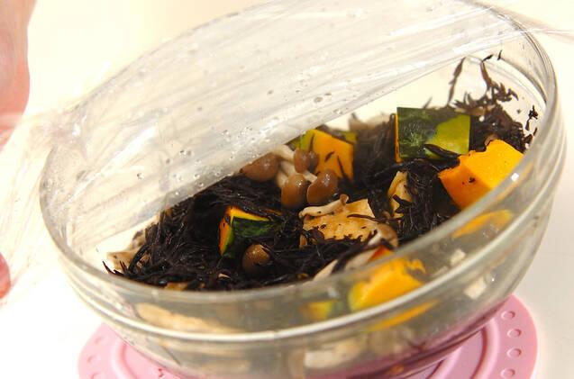 カボチャとヒジキのレンジ煮の作り方の手順6