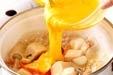 ユリネ高野の卵とじの作り方2