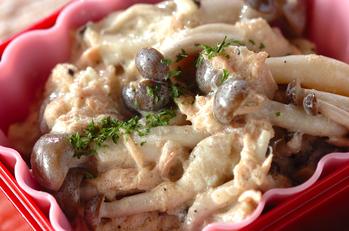 キノコとツナのタルタルサラダ