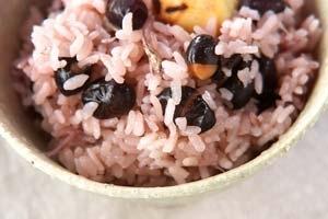 黒豆の炊き込みご飯