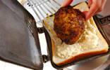 ホワイトチーズハンバーグホットサンドの作り方5