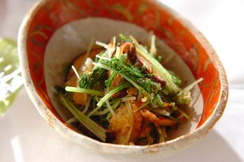 シイタケと水菜のおろし和え