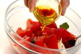 トマトとチーズのサラダの作り方1