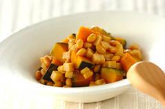 大豆とカボチャの煮物