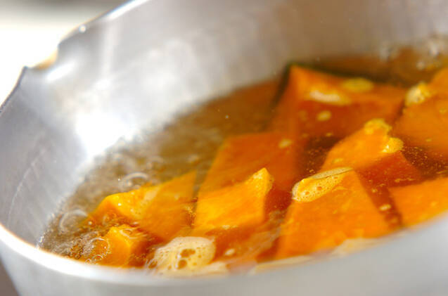 カボチャの煮物の作り方の手順4