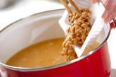 納豆とエノキのみそ汁の作り方3