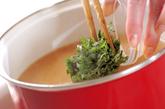 納豆とエノキのみそ汁の作り方2