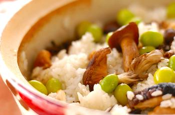 ギンナンと焼キノコご飯