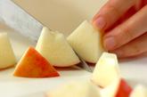 フルーツヨーグルトのメープルがけの下準備1