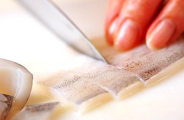 イカのワタ炒めの作り方の手順1