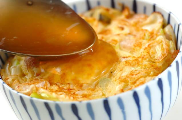 ぷりぷりあんかけエビ玉丼の作り方の手順7