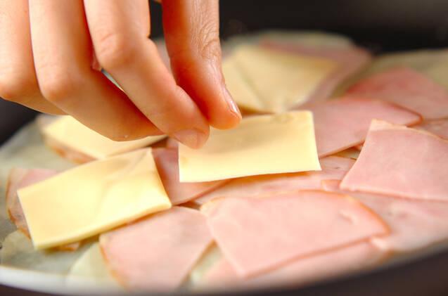 ハムとチーズのポテト焼きの作り方の手順4