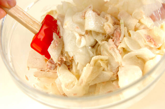 塩もみ冬瓜とツナのユズマヨ和えの作り方の手順4