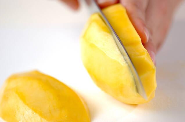 マンゴーのグラニテの作り方の手順1