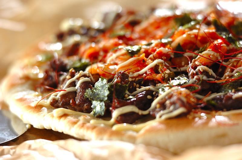 牛肉のピザ