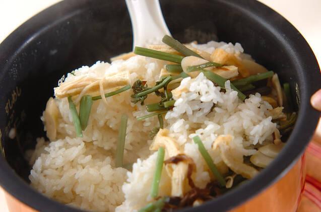 山菜ご飯の作り方の手順5