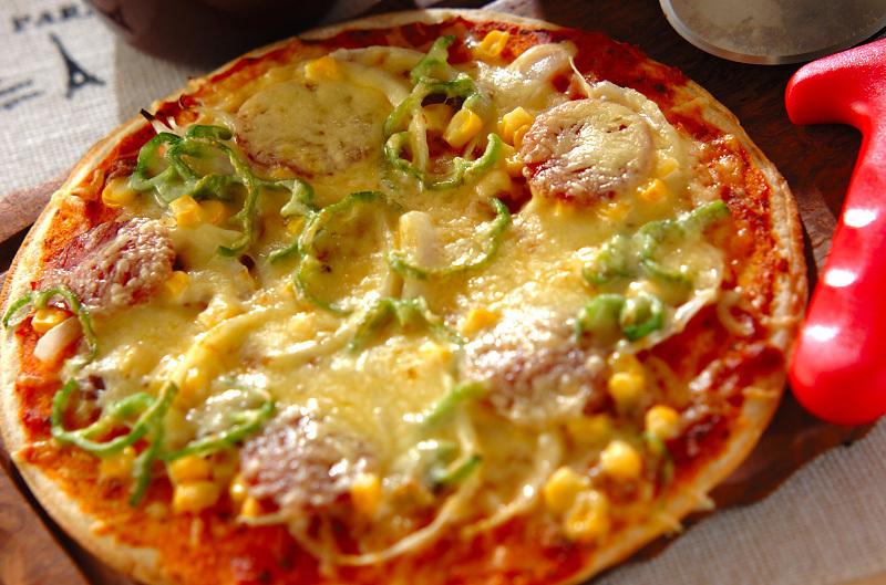 ベーコンスライスピザの画像