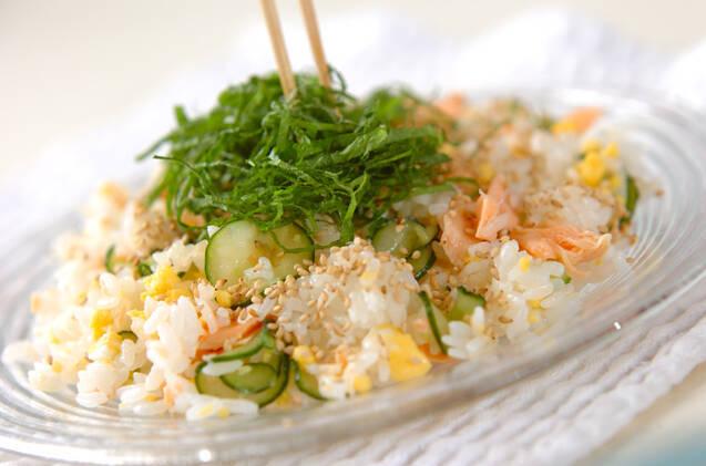塩鮭の混ぜずしの作り方の手順7