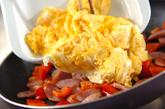 ソーセージと卵のふわふわ炒めの作り方2