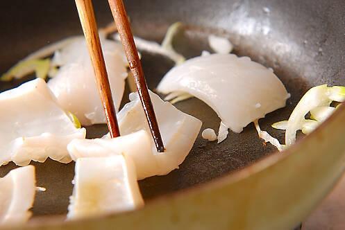 イカの塩炒めの作り方の手順2