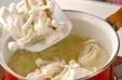 白シメジのスープの作り方1