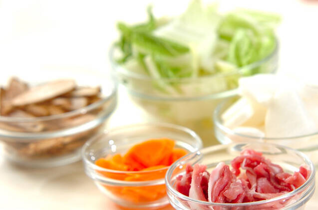 根菜豚汁の作り方の手順1