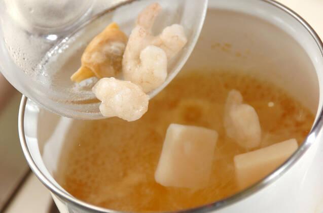 シーフードミルクスープごはんの作り方の手順2