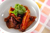 鶏リブと砂肝の黒酢煮