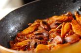 鶏リブと砂肝の黒酢煮の作り方2