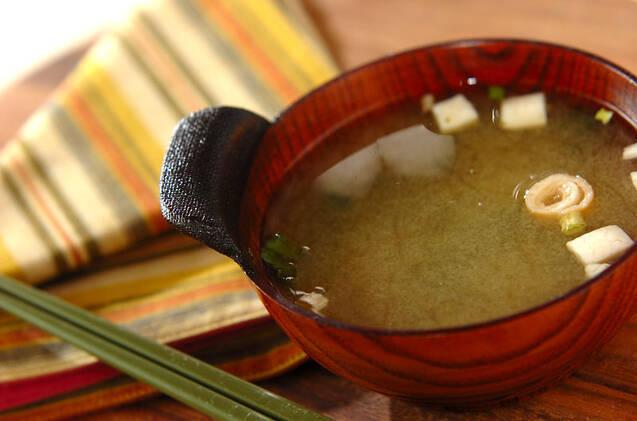 柚子コショウを効かせた簡単味噌汁