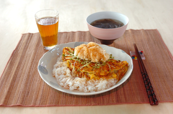 納豆卵焼き夕食