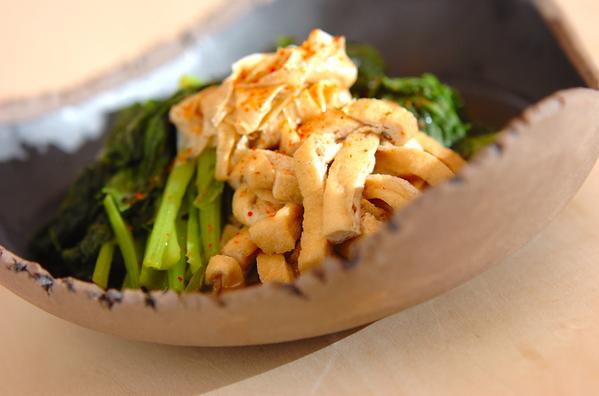 1.小松菜とお湯葉さんの炊いたん