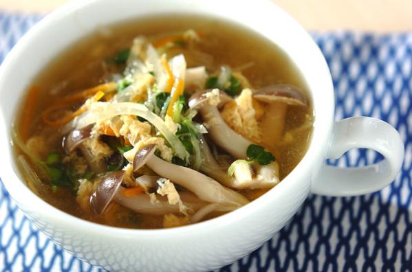 さっぱりしめじのスープ