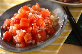 トマトとオニオンのサラダ