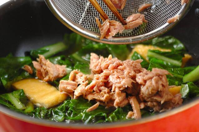 油揚げと小松菜の炒め煮の作り方の手順5