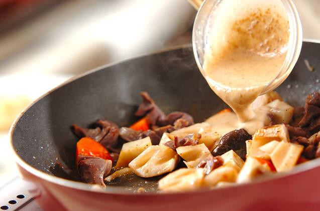 砂肝のゴマドレ炒めサラダの作り方の手順7