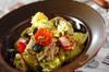 大葉のジェノベーゼ風サラダ