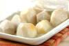レンジでホクホク♪里芋のあられと梅風味青のり和えの作り方の手順1