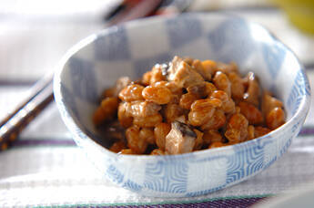 大豆とシイタケの炒め物