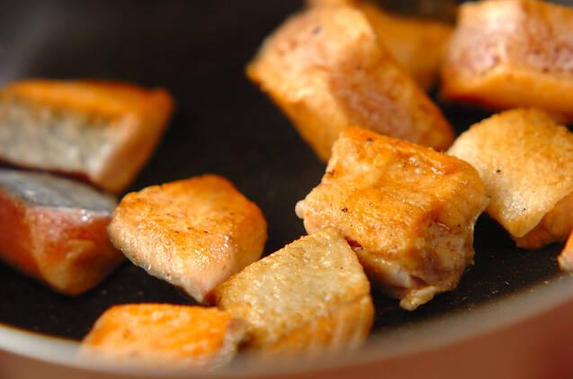 濃厚鮭グラタンの作り方の手順7