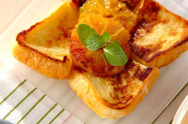 オレンジフレンチトースの写真