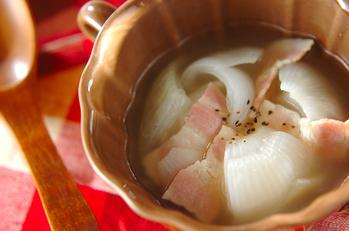 新玉ネギのまるごとスープ