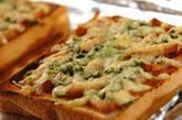 ネギみそチャーシューピザトーストの作り方3