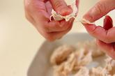 ささ身とオクラの梅マヨネーズの作り方1