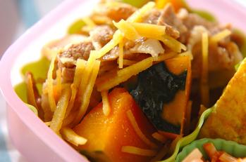 豚とカボチャのレンジ煮